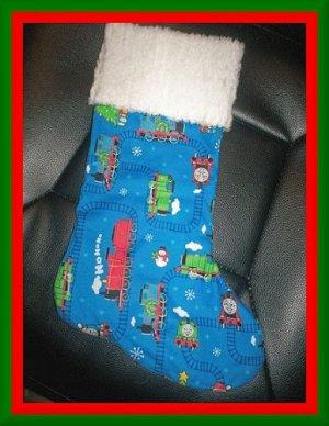 Handmade Christmas Stocking ~ Thomas the Tank Engine 3 FREE US AND CANADA SHIPPING