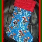 Handmade Christmas Stocking ~ Superman FREE US AND CANADA SHIPPING