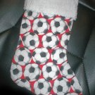 Handmade Christmas Stocking ~ Red Soccer Balls FREE US AND CANADA SHIPPING