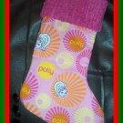 Handmade Christmas Stocking ~ Polly Pockets FREE US AND CANADA SHIPPING