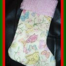 Handmade Christmas Stocking ~ Calico Butterfly