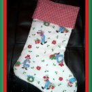 Handmade Christmas Stocking Vintage Raggedy Ann & Andy FREE US AND CANADA SHIPPING