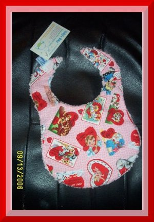 Boutique Michael Miller's Retro Valentine's Day & Chenille Baby Bib with FREE US AND CANADA SHIPPING