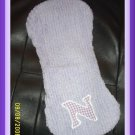 FREE SHIPPING .Boutique Baby Personalized Monogram Chenille Burp Pad W/ any letter & many colors