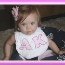 FREE SHIPPING Boutique Baby Personalized Bib - any 2 letters & many colors available