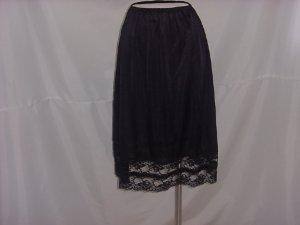 black half slip Bari Large Antron nylon large slip  (S L A)
