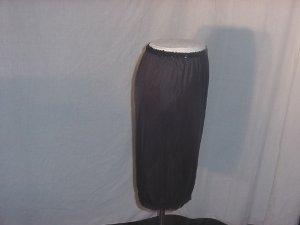 Vassarette half slip Black slip with Sequin Waistband Fringed Hem