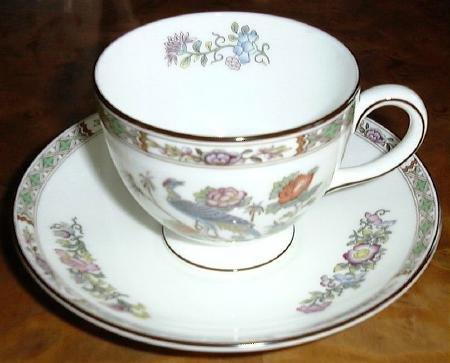 Fine China KUTANI CRANE Cup & Saucer by Wedgwood