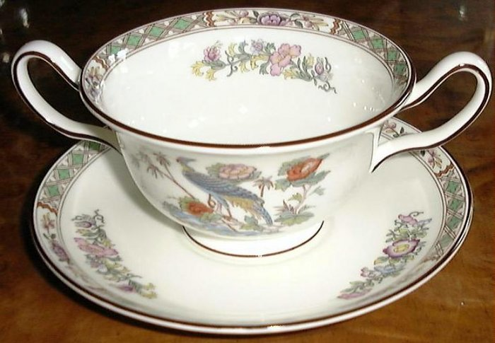 KUTANI CRANE CREAM SOUP C & S by WEDGWOOD, FINE CHINA