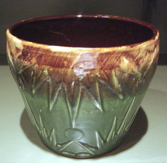 LARGE Vintage Glazed Pottery Pot Robinson Ransbottom Pottery Co.