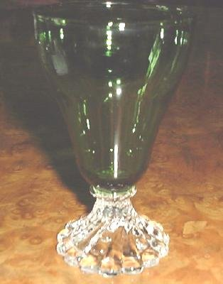 Anchor Hocking  Burpie Green JUICE Glass