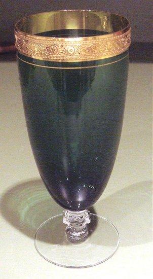 Rare Tiffin Goblet GOLD BRACELET Iced Tea Glass