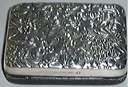 Rare Vintage Repousse Sterling & Leather Gorham Key Case