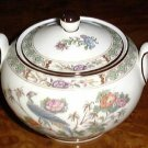 KUTANI CRANE Sugar Bowl & Lid Wedgwood Porcelain China