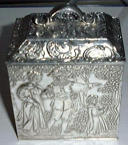 Antique Victorian Repousse Tea Casket, Derby S.P. Co.