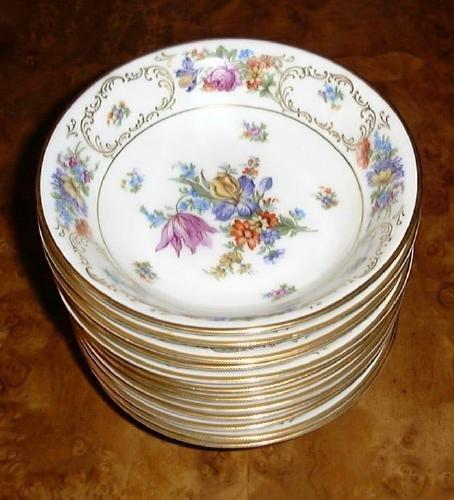"PT Bavaria Tirschenreuth 6"" Cereal Berry or Dessert Bowl DRESDEN FLOWERS"