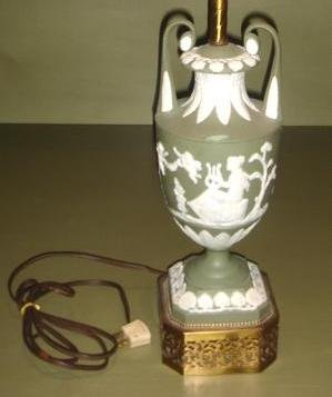 Wedgwood Style Table Lamp with chip