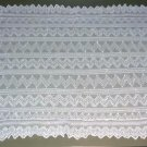 VINTAGE TAMBOUR LACE LAY-OVER PILLOW SHAM-WHITE EMB NET