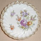 Vintage hand painted Dresden floral pin tray, #4