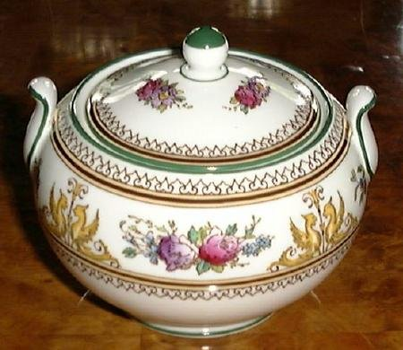 Columbia Enamelled by Wedgwood SUGAR BOWL & LID