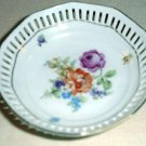 "4"" DRESDEN FLOWERS Pierced Dish by Schumann Bavaria Germany #3"