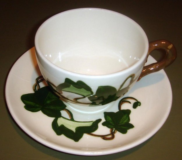 Vintage Cup & Saucer by Poppytrail Metlox California Ivy