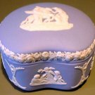 Blue & White English Jasperware Box Wedgwood England