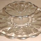 Sterling Silver Overlay & Glass Charger & Compote Set
