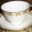 Footed Cup & Saucer Royal Crown Derby HERALDIC English China