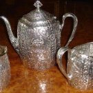Antique Cupid Repousse Teaset E. G. Webster & Son