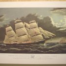 Currier & Ives Print Ocean CLIPPER SHIP DREADNOUGHT