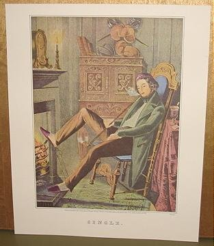 Currier & Ives Print SINGLE Victorian genre