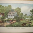 Currier & Ives Print AMERICAN HOMESTEAD SUMMER Country