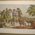 Currier & Ives Print AMERICAN COUNTRY LIFE May Morning