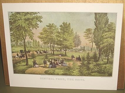 Currier & Ives Print CENTRAL PARK THE DRIVE City scene
