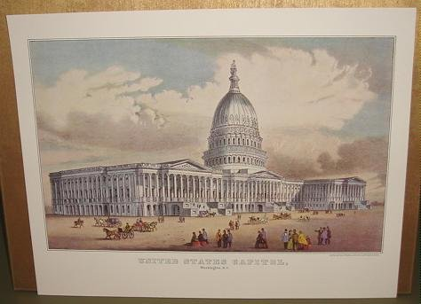 Currier & Ives Print UNITED STATES CAPITOL Washington