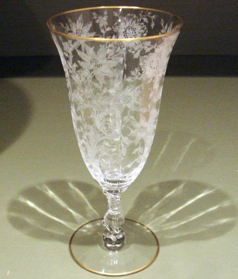 Cambridge WILDFLOWER Footed Goblet Iced Tea Glass