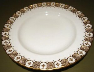HERALDIC Pastry Bread Plate by Royal Crown Derby English Bone China