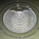 1971 Lalique Owl Plate w/ Box, Decorative Collectible
