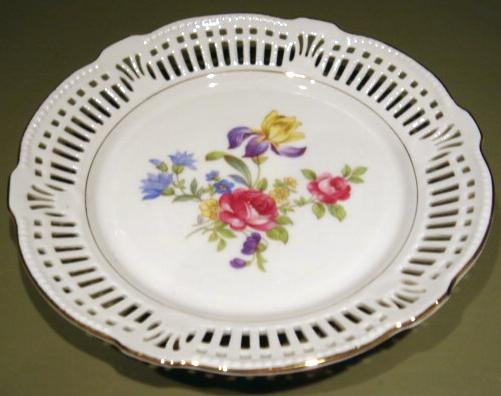 Vintage Bavaria Germany U.S. Zone Pierced Dessert Plate