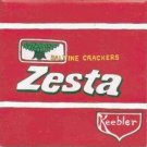 HAND PAINTED DECORATIVE FOOD LABEL CERAMIC TILE by TENNESSEE ARTIST, Zesta crackers