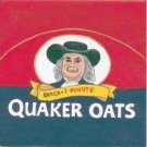 HAND PAINTED DECORATIVE FOOD LABEL CERAMIC TILE by TENNESSEE ARTIST, Quaker oats