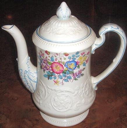 Vintage Wedgwood MORNING GLORY Patrician Coffee Pot