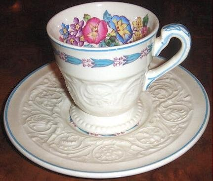 Demitasse Cup & Saucer MORNING GLORY Wedgwood Patrician
