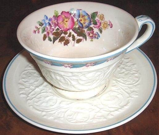 Wedgwood Patrician MORNING GLORY Cup & Saucer