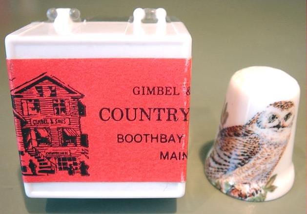 Vintage Porcelain Owl Thimble #5