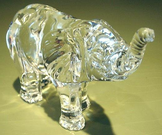 Waterford Crystal Elephant Calf Glass Figurine