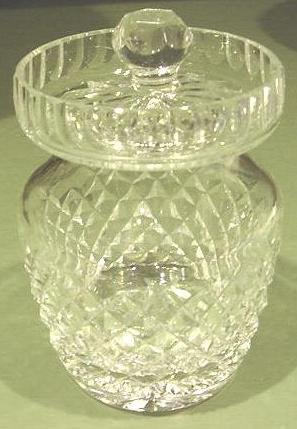ALANA Waterford Crystal Cut Glass Preserve Jam Jar Pot