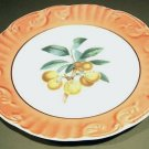 "Mottahedeh Summer Fruit APRICOT Porcelain 8"" in Plate Portugal"