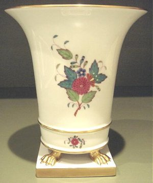 Outstanding Large Herend CHINESE BOUQUET Vase, Gold Paw Feet